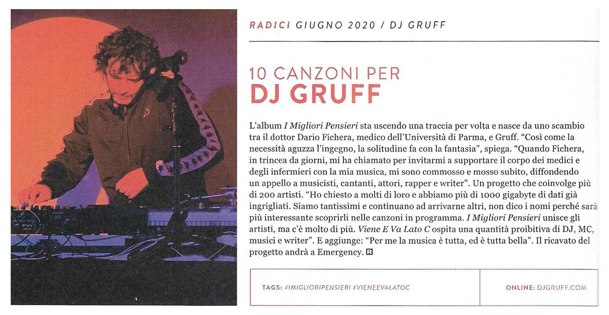 Intervista DJ Gruff - Rumore Giugno 2020